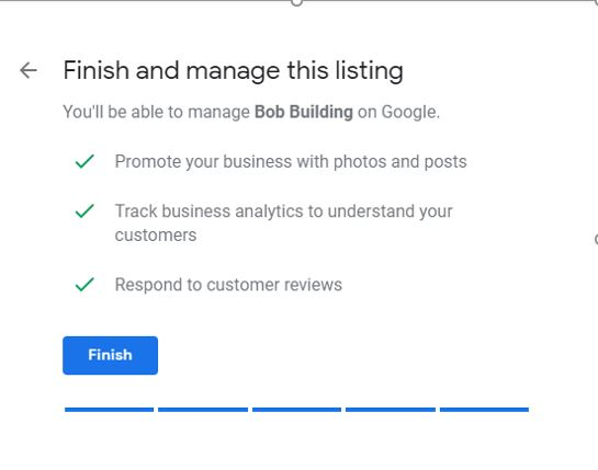 Google My Business manage listing